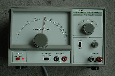 Leader LAG-27 Audio function generator,10Hz-1Mhz,Very low distortion 0.05%