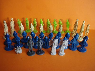 """DOCTOR WHO - LOT OF 44 1.5"""" (4cms) MINI MICRO FIGURES - WEEPING ANGELS ETC."""