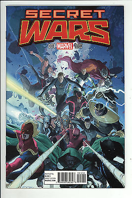 Secret Wars (2015) #1 Esad Ribic 1 in 25 Group Variant Cover First Print NM