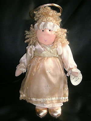 Little Souls Collectible Angel Sky/celeste 2004 Soft, New Condition With Tags