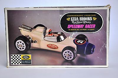 Speedway Sprint Racer #21 Decanter by Ezra Brooks Whiskey with Box