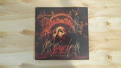 Slayer Repentless lp signed by 3 kerry king metallica