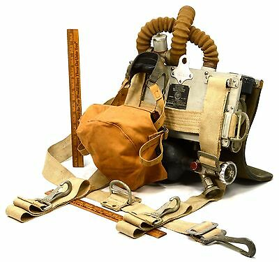 """Vintage MINING """"...OXYGEN BREATHING APPARATUS"""" 1/2 Hour MINE SAFETY CO. No. 1305"""
