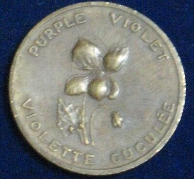 "Purple Violet / New Brunswick [1867] ~ Bronze 1.25"" Diameter"