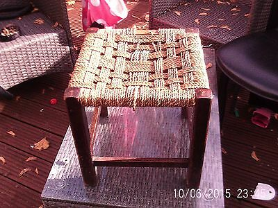 Vintage/Retro Wicker Woven Wooden Stool shabby chic project
