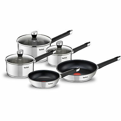 Tefal Emotion E824S544 5 Piece Pan Set, Induction | Stainless Steel