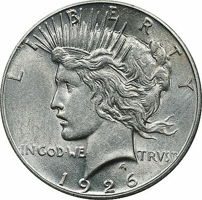1926 P Peace Dollar, About Uncirculated AU