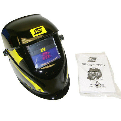 NEW ESAB Origo-Tech ADF Welding Helmet Variable Shade Auto-Darkening MIG/TIG