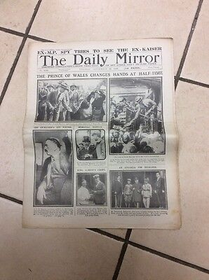 Daily Mirror Newspaper Complete Date Tuesday September 23rd 1919