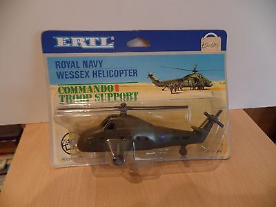 ERTL TOYS  no 1019 FI a royal navy commando helicopter mint on card