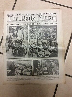 Daily Mirror Newspaper Complete Date Friday 19th September 1919