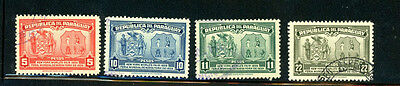 Paraguay Scott # 362 - 365  used - Great selection