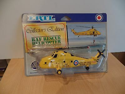 ertl toys no 1011 a RAF  rescue helicopter in yellow  mint on card