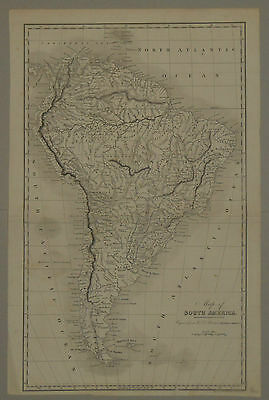 1830 ANTIQUE MAP 43x26cm SOUTH AMERICA HISTORY CARTOGRAPHY WILLIAM ROBERTSON