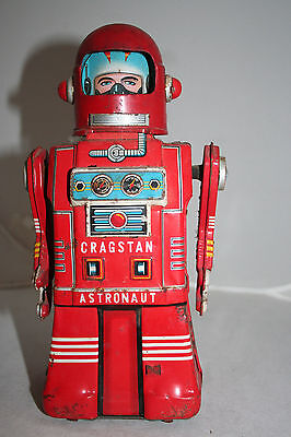 Vintage1950S Red Skirted Red Cragstan Astronaut By Ko Yonezawa Spaceman Version