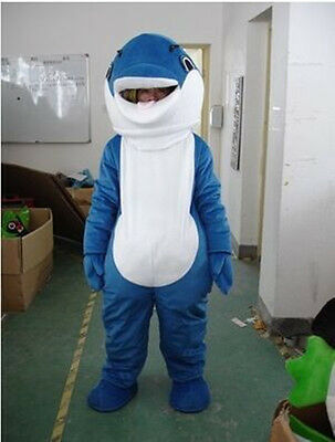 78c49a52 HALLOWS DOLPHIN ANIMAL Mascot Costume Cosplay Xmas party Fancy Dress Adult  Suits