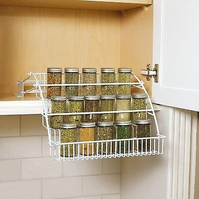 Rubbermaid Pull Down Spice Rack White