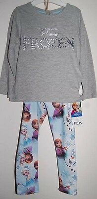 Disney Frozen Outfit Top and Leggings Marks & Spencer Age 8-9 Years