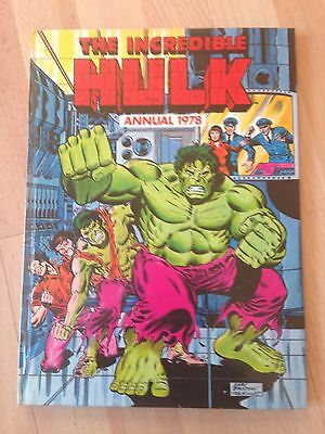The Incredible Hulk 1978 Annual Marvel