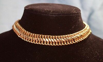 14 K gold wide small  necklace