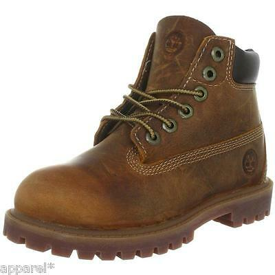 New Timberland Authentic toddlers Rust Medium Brown Leather Boots 80804