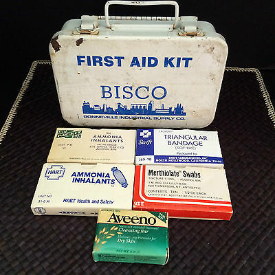 Vintage Bisco First Aid Kit w/ Medicine Collectables