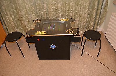Arcade Table , Cocktail Machine,  Pacman, Space Invaders with Pinball Buttons