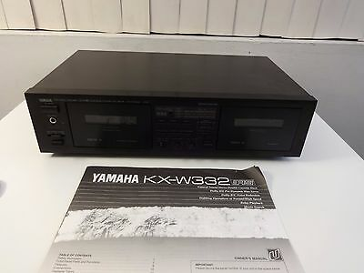 Yamaha KX-W332 Stereo Double Cassette Deck Dolby B-C RS HX Pro Japan Made Manual