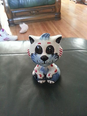 Lorna Bailey TAD the Cat Pottery Excellent Condition FREE P&P %