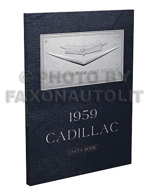 1959 Cadillac Data Book Dealer Album with Options Accessories for all models