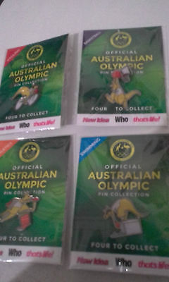 2016 RIO Olympic games - Australian Official Pin Collection (4 pin set)