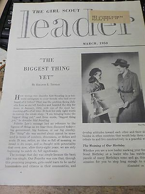 Vintage Girl Scout Leader Bulletin Magazine March 1950