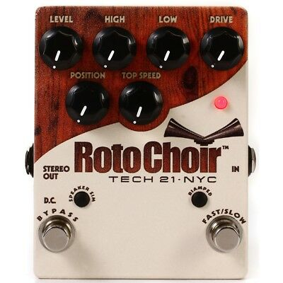 New Tech 21 Roto Choir Rotary Speaker Emulator Pedal, ROTO + Free Shipping