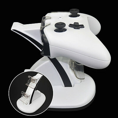 LED Micro USB Dual Dock Charging Station Stand For Xbox One S Controller