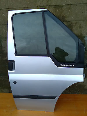 Ford Tourneo Transit Mk6 2004 Offside Drivers Complete Front Door (Silver)