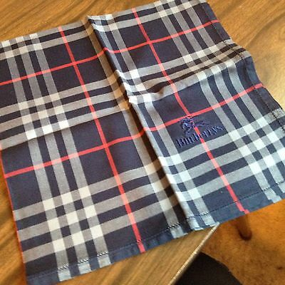 Japanese Handkerchief Classic Burberry Navy Blue Plaids from Japan 43cm x 43cm