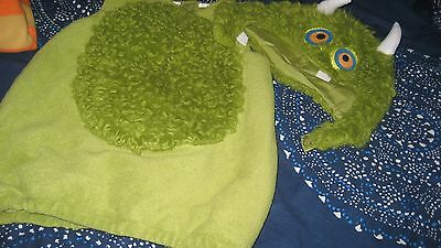 Pottery Barn Kids Green Monster Halloween Costume Size 4-6 Rare Discontinued