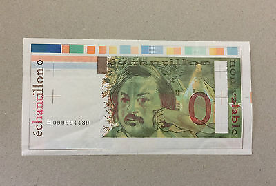 Specimen Note France Oberthur-Balzac 100 Francs H099994439 Colored Design