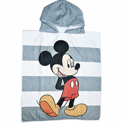 Disney Mickey Mouse Boys Hooded Towel Poncho One Size