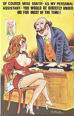Vintage 1970's Bamforth COMIC Postcard (as new) Directly under me #563