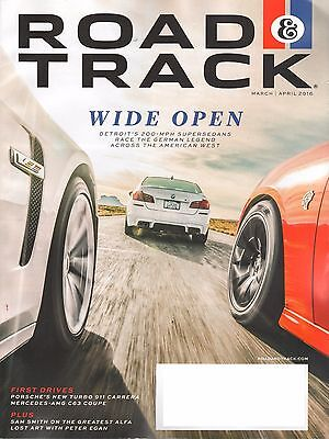 4 Issues of Road & Track Magazine - February - July 2016