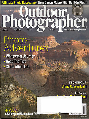 8 Issues of Outdoor Photographer Magazine - March - October 2016