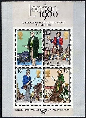 GREAT BRITAIN SC#874a/SG1099 LONDON 1980 INTL STAMP EXHIBITION MINIATURE SHEET