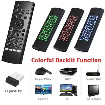 2.4G LED Backlit Wireless Keyboard Touchpad Mouse Remote Control For TV BOX HTPC