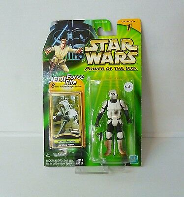 Star Wars The Power Of The Jedi Scout Trooper Action Figure