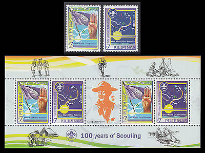 Philippines Stamps 2007 Lord Baden Powell MNH Boy Scouts Centenary complete set