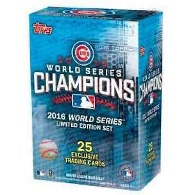 Chicago Cubs 2016 Topps Baseball World Series Champions Box Set Fast Shipping