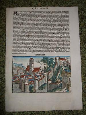 1493,schedel,view Of Alexandria/egypt[T2