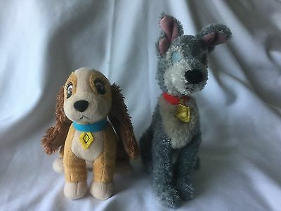 """Lady and the Tramp soft toys Plush Dogs Walt Disney Classic film toys 6""""-8"""" ��"""
