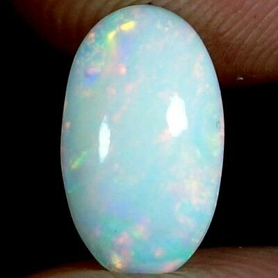 01.25Cts. 100% NATURAL RAINBOW FIRE WELO ETHIOPIAN OPAL OVAL CABOCHON GEMSTONES